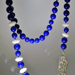 Lapis lazuli necklace with